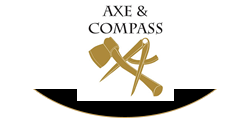 Axe & Compass | Hemingford Abbots Sticky Logo