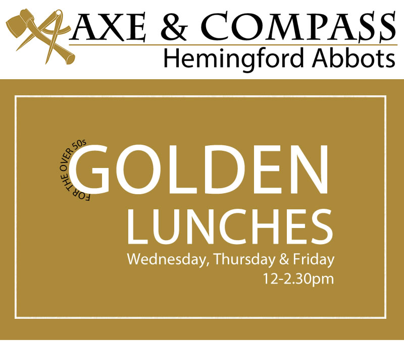 Golden Lunches offer for the over 50s